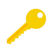 key vector symbol icon – lock protection security sign