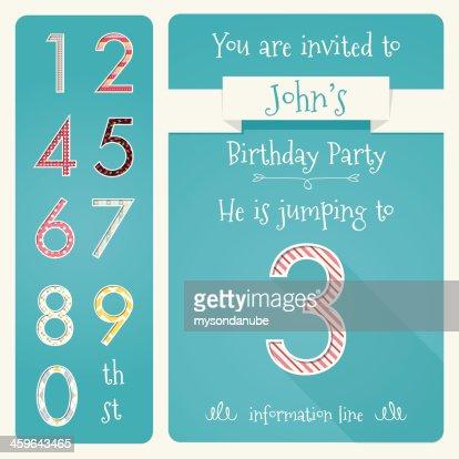 Kid Birthday Invitation Card Design Vector Illustration Vector Art – Kid Birthday Invitation