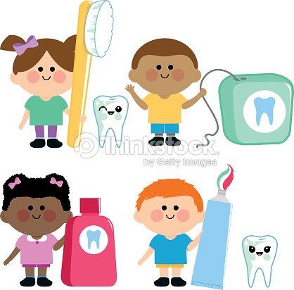 26e61601b Crianças Higiene Dentária Vector Set arte vetorial - Thinkstock