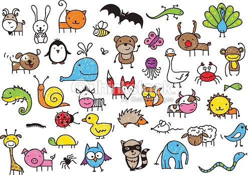 kids drawings of animals vector art thinkstock - Pics Of Animals For Kids