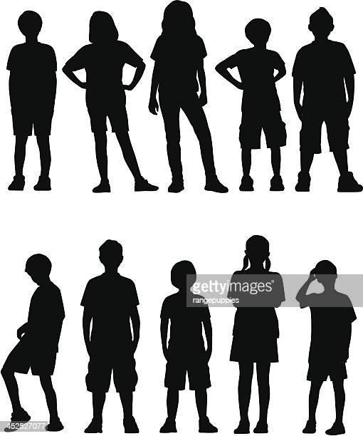Kinder auf der Vorderseite