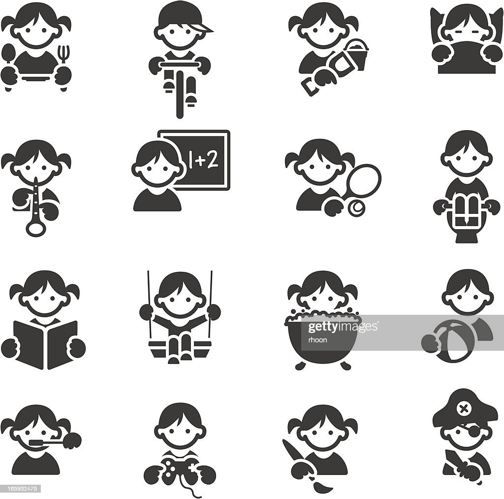 children icon vector - photo #20
