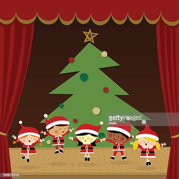 Kinder in einer Weihnachtsfeier