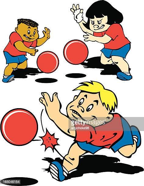 Kids playing dodgeball