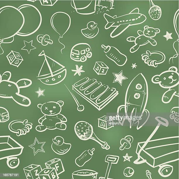 Kids seamless wallpaper background