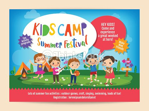 kids summer camp education poster flyer ベクトルアート thinkstock
