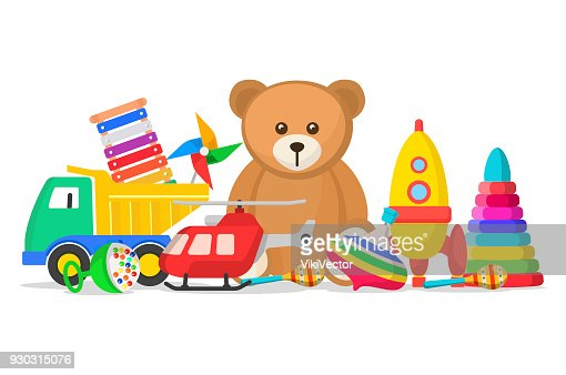 Kids toys set : stock vector