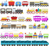 Kids train vector cartoon baby railroad toy or railway game with locomotive gifted on happy birthday to child in childhood kids toys isolated on white background illustration.
