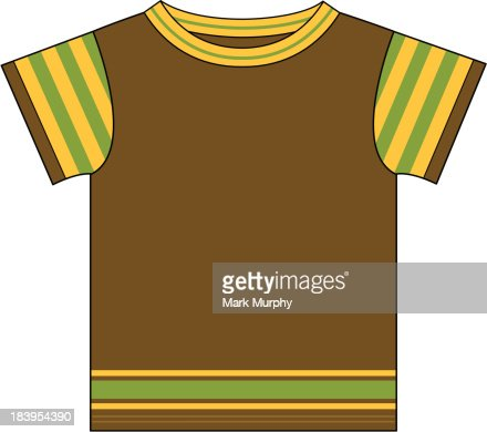 Kids tshirt template vector art getty images for T shirt templates vector