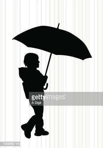 kidsn umbrella vector silhouette vector art getty images