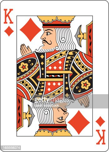 King Of Diamonds Two Playing Card Vector Art | Getty Images