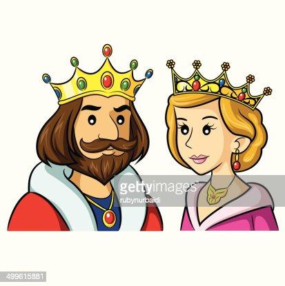 king queen cartoon vector art thinkstock