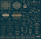 Kit of Vintage resources for Invitations, Banners, Posters, Placards, Badges or Logotypes
