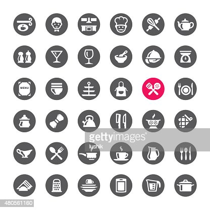 Kitchen and Cooking vector icons : Vector Art