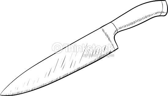 Line Drawing Knife : Kitchen knife line art vector thinkstock