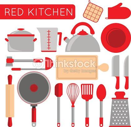 Cocina objetos instrumentos para cocinar chef accesorios - Objetos de cocina ...