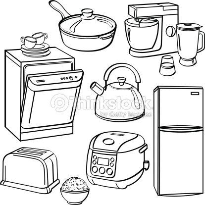 Kitchen Utensils And Appliances Stock Vector Thinkstock