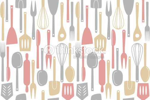 Kitchen utensils seamless pattern vector art thinkstock - Instrumentos de cocina ...