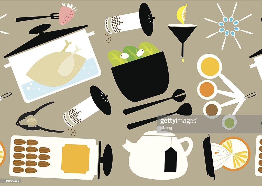 Kitchen Utensils Wallpaper kitchen utensils theme wallpaper vector art   getty images