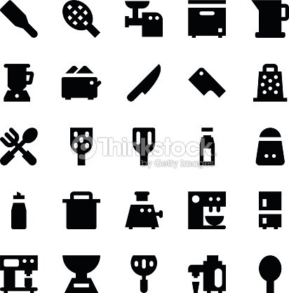 Utensilios De Cocina Vector De Iconos 8 Arte Vectorial Thinkstock