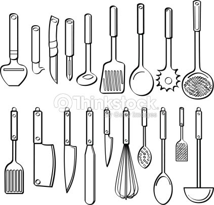 Kitchen Utensils Vector Art