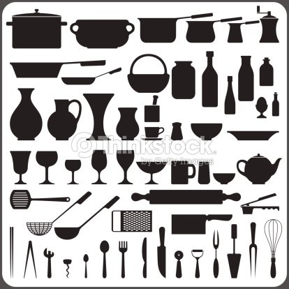 Set ustensiles de cuisine clipart vectoriel thinkstock for Art and cuisine cookware review