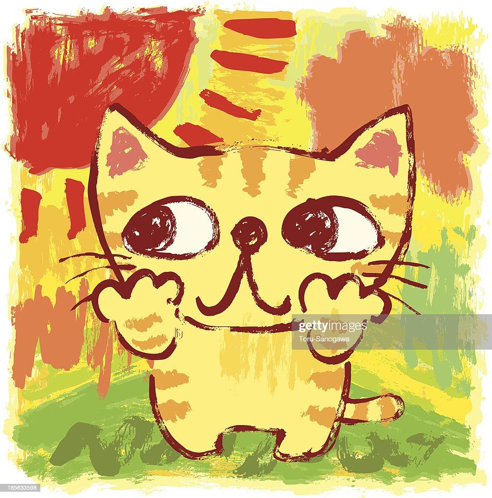 Kitten and the sun : Vector Art