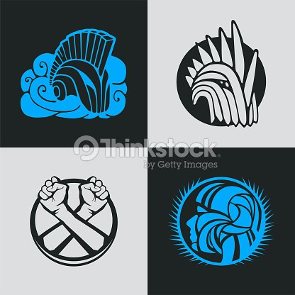 Knight Helmet Logo Template Vector Art | Thinkstock