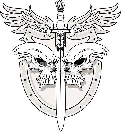Knight Shield Vector Art Thinkstock