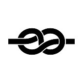 Knot it is black icon . Flat style