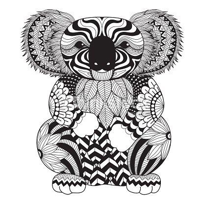 Koala Libro Para Colorear Arte vectorial | Thinkstock