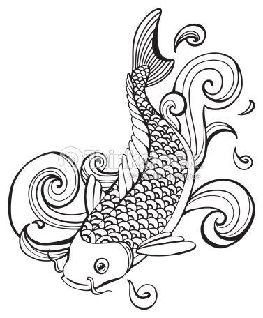 Koi fish vector art thinkstock for Koi japones