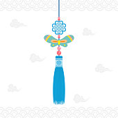 holiday,Chuseok,new year,day,greeting,tradition,Korean,decorative, gift, ornament,pattern,ribbon,knot,design,template