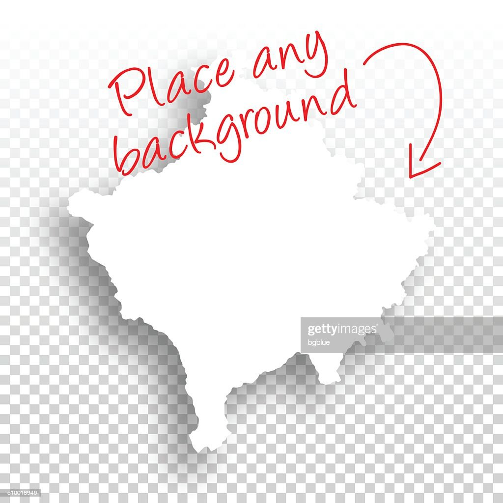 Kosovo Map For Design Blank Background Vector Art Getty Images - Kosovo map