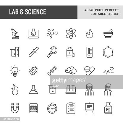 Lab & Science Vector Icon Set : Vector Art