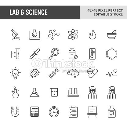 Lab & Wissenschaft Vektor Icon-Set : Vektorgrafik