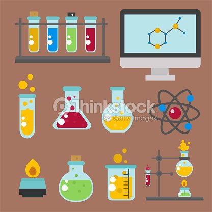 Lab Symbols Test Medical Laboratory Scientific Biology Design