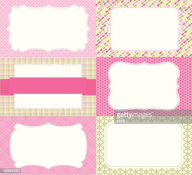 Labels on patterned backgrounds