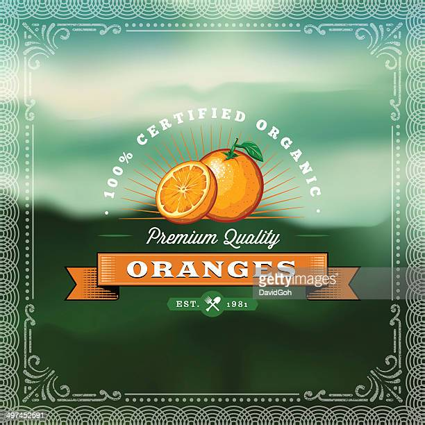 F&B Labels - Oranges