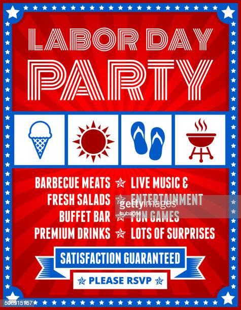 Labor Day-Party Banner auf rotem Hintergrund