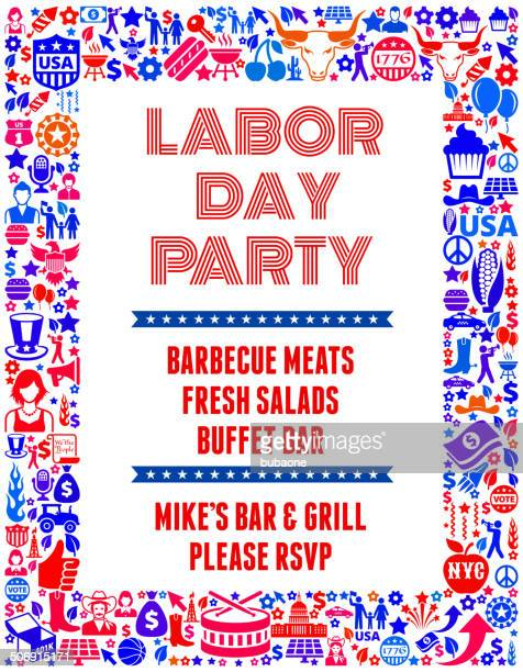 Labor Day Feier Banner uns lizenzfreie Vektorgrafiken