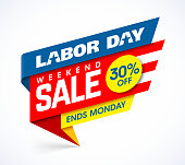 Labor Day Sale banners design template vector illustration