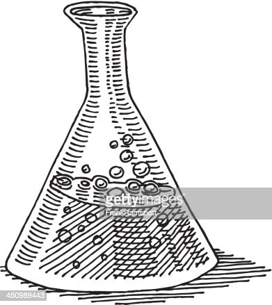 Laboratory Erlenmeyer Flask Drawing Vector Art | Getty Images