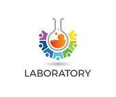 lab, social, emblem, people