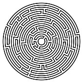 Labyrinth icon. Maze symbol. Isolated on white background