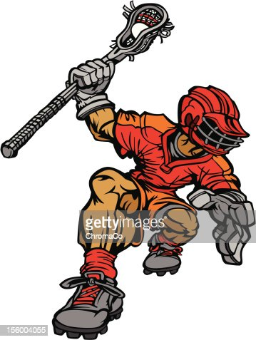 Lacrosse Player Cartoon Vector Image : Vector Art