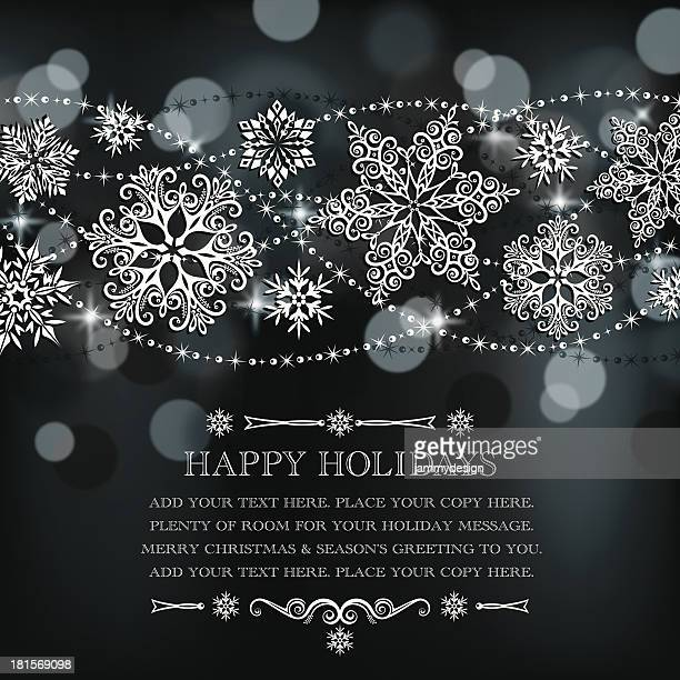 Lacy Snowflakes Background