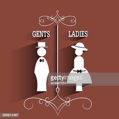 lady e elegância sinal com longa Sombra : Arte vetorial