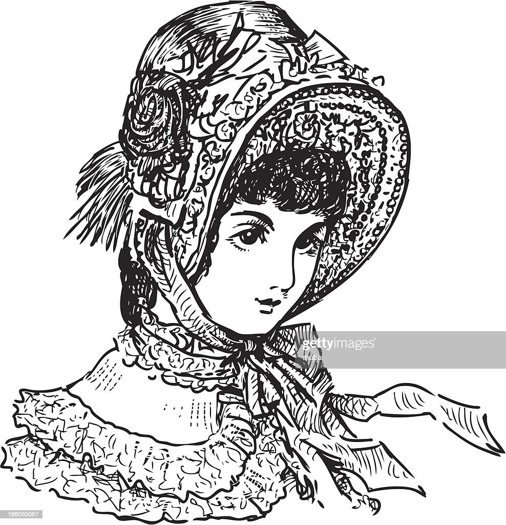 lady of the 19th century : Vector Art