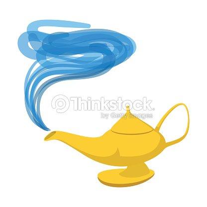 Lampe Aladdin Comicsymbol Vektorgrafik | Thinkstock